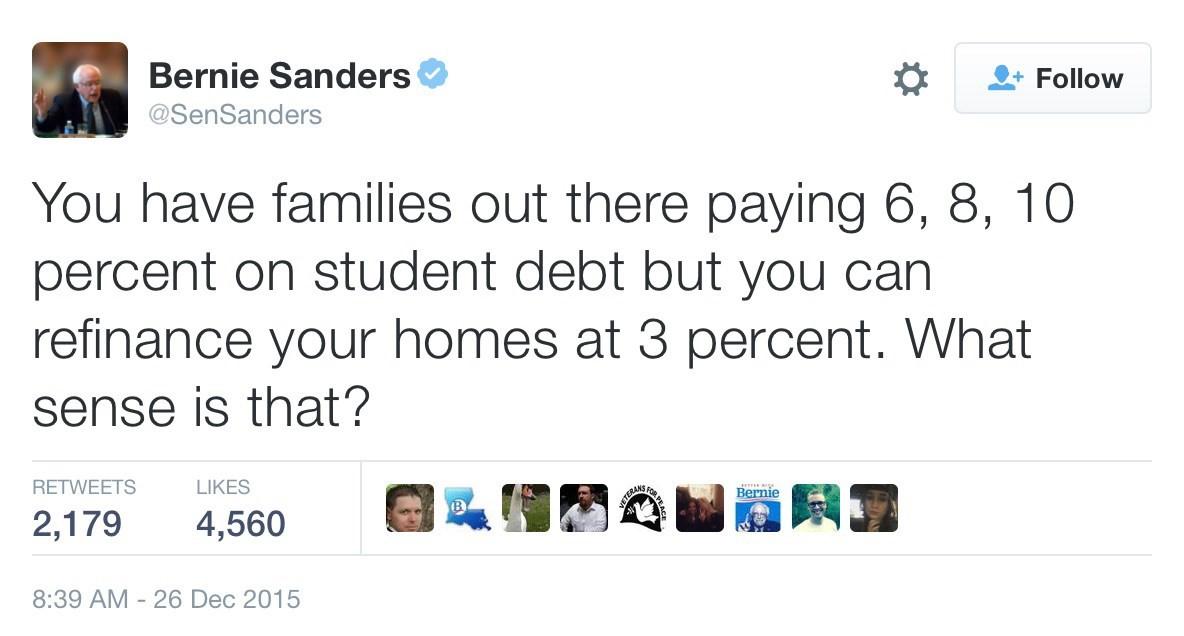 BernieSandersTweet